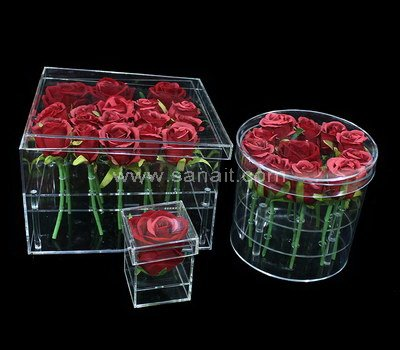 Acrylic Flower Box Small & Big, Square & Round Wholesaler