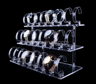 Clear Acrylic 3 Tier 24 Watch Display Stand