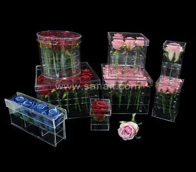 Acrylic box for flowers