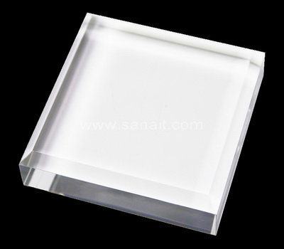 Acrylic block with beveled edge