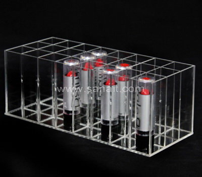 Clear lipstick display organizer