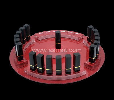 Round acrylic display stand for lipstick