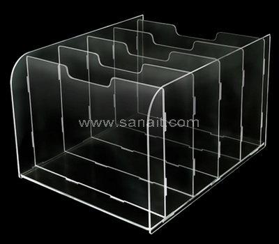 Crystal Clear Acrylic Desktop File Sorter Holder