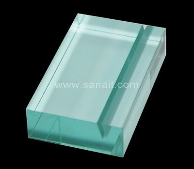 Custom acrylic block sign holder SACA-016