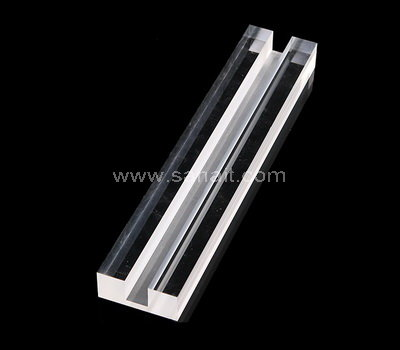 Custom acrylic block with slot
