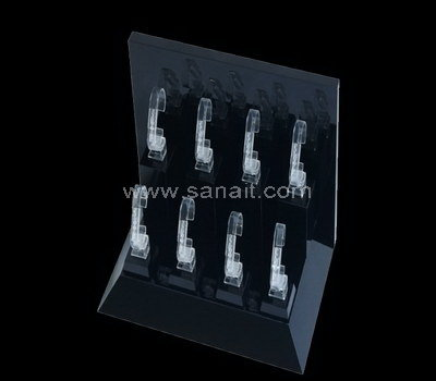 Black acrylic watch display