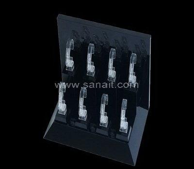 Black acrylic watch display