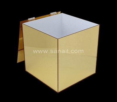 SAAB-129-3 Gold mirror acrylic ballot box with lock