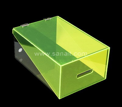 Double color acrylic shoe box