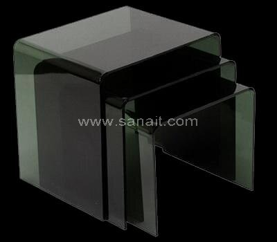 Custom smoke black acrylic nesting table set
