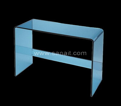 Custom Modern Crystal Blue Acrylic Console Table