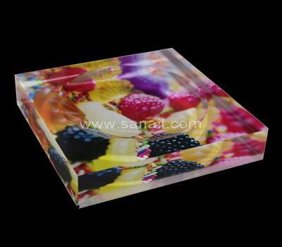 Custom UV printed acrylic block candy bowl