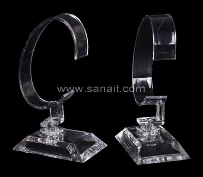 Clear single watch acrylic display stands wholesale