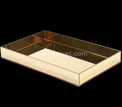 Custom gold mirror acrylic serving tray