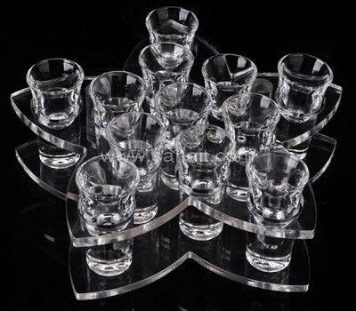 Wholesale acrylic shot glass tray for bar