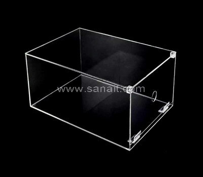 SAAB-133-1 Drop front stackable clear acrylic sneaker shoe organizer box