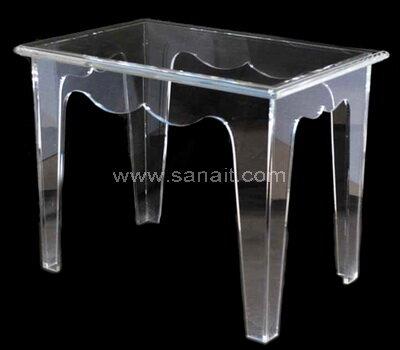 Custom clear acrylic desk