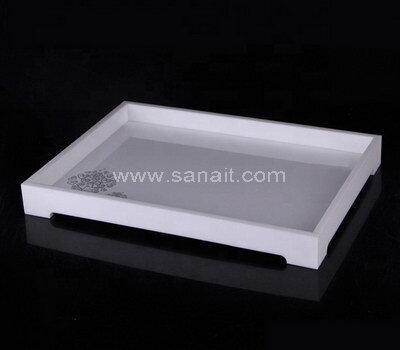 Personalized white acrylic tray