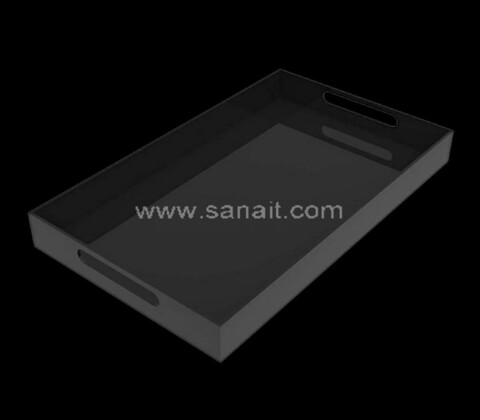 Black acrylic tray with handle wholesale