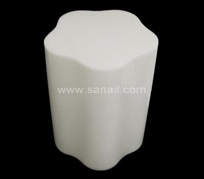 Custom solid white acrylic blocks