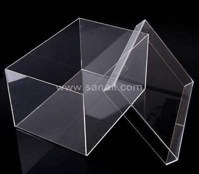 SAAB-137-1 Stackable acrylic shoe boxes wholesale