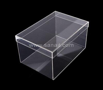 Stackable acrylic shoe boxes wholesale