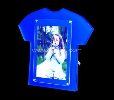 T shirt shaped acrylic photo frame wholesale